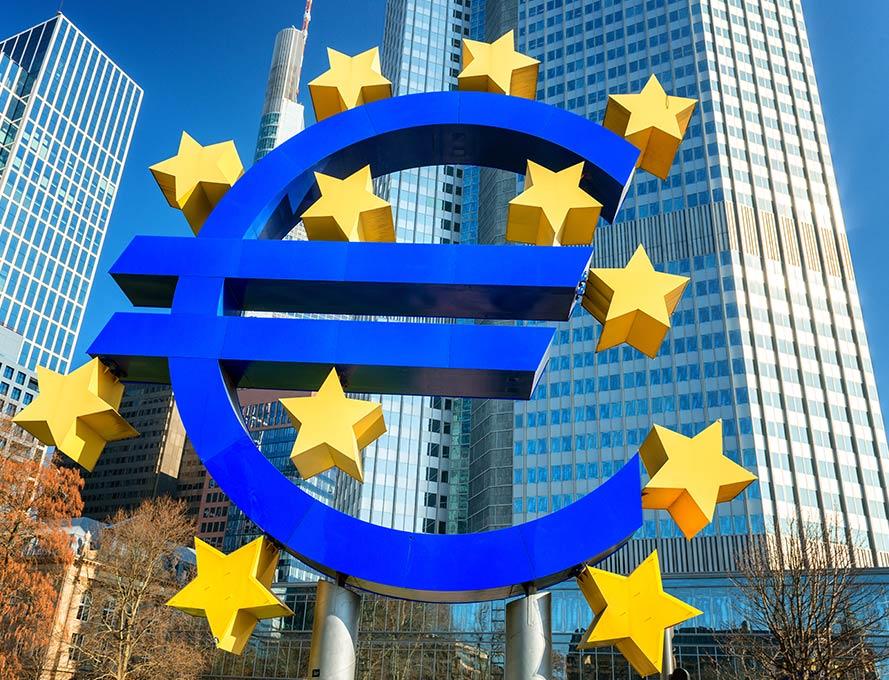 Europäische Zentralbank (EZB) in Frankfurt – Teil der beeindruckenden Frankfurter Skyline